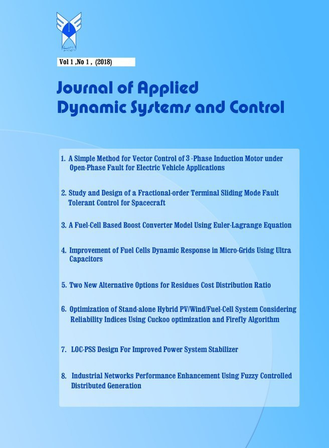Journal of Applied Dynamic Systems and Control